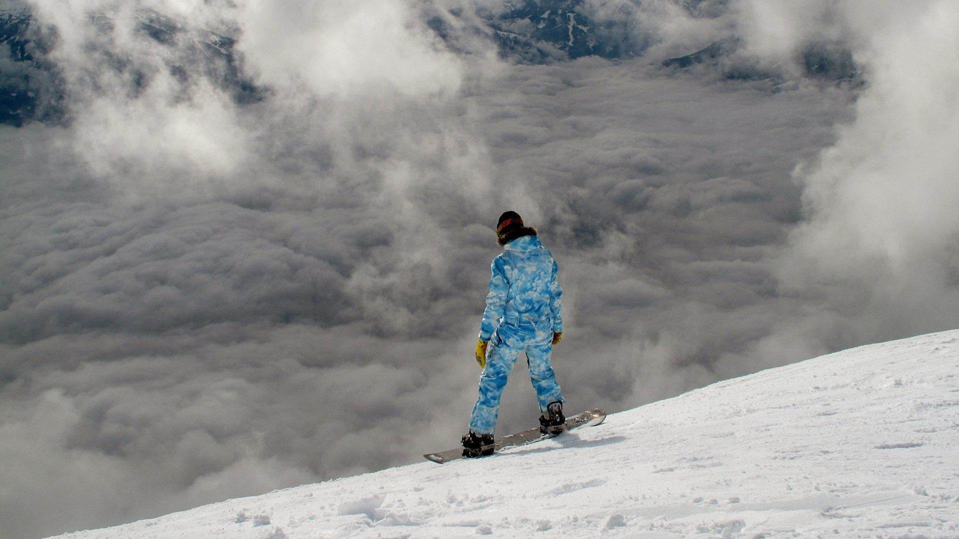 Snowboard in Val di Fiemme